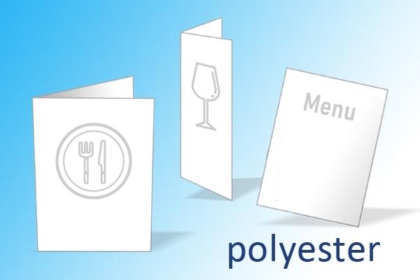 menukaarten op polyester