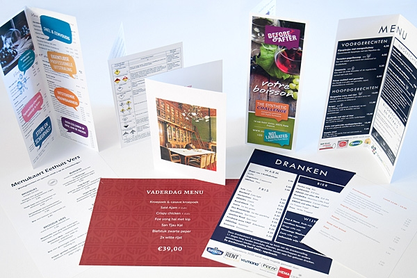 Menukaarten en drankkaarten op polyester | Imago Prints Utrecht