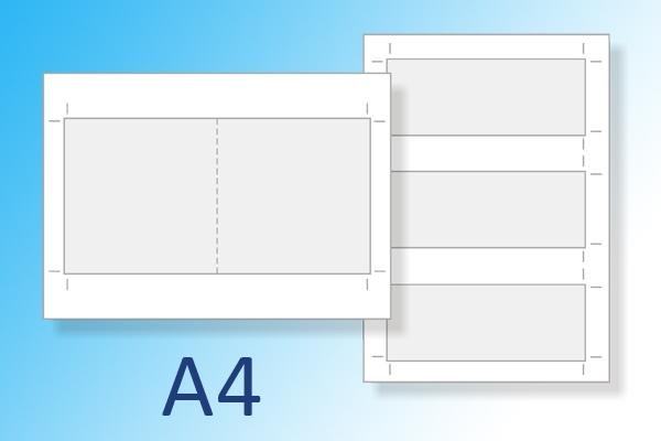 Kaarten uit A4