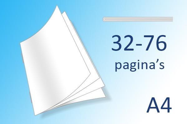 A4 Boekjes 32-76 pag.